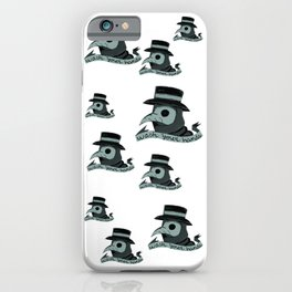 Plague doctor wash your hands cute spooky halloween  iPhone Case