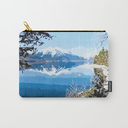Panorama view of Lake Mcdonald Carry-All Pouch