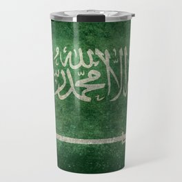 Flag of  Kingdom of Saudi Arabia - Vintage version Travel Mug
