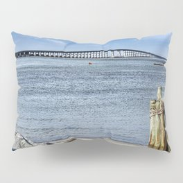 Bridge to sand and sea Pillow Sham