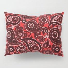Red Paisley Pattern Pillow Sham
