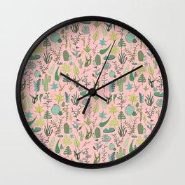 Nature Pink Wall Clock