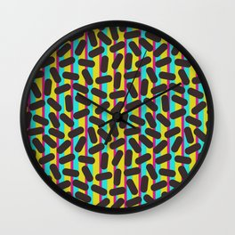 90's Pattern Retro Particles Wall Clock
