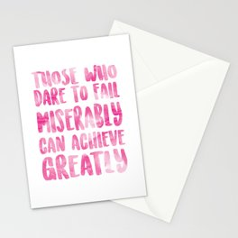 Achieve Greatly Stationery Cards
