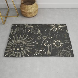 Space patterns Rug