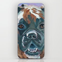 Boone the Boxer Dog Portrait iPhone Skin