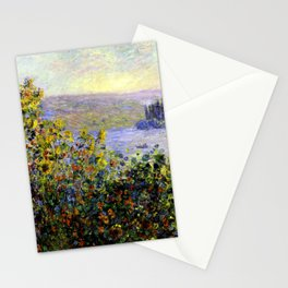 Monet: Flower Beds At Vetheuil Stationery Cards