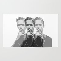 ryan gosling Area & Throw Rugs featuring Ryan Gosling by Harry Martin