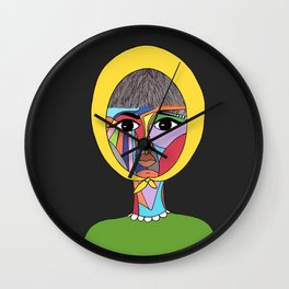 Colorful Lady Wall Clock
