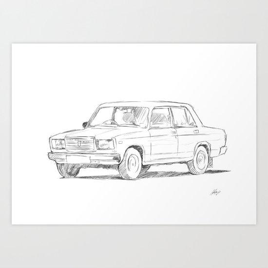 Lada Art Print
