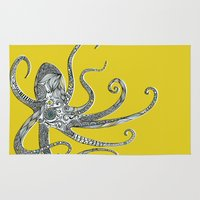 octopus Area & Throw Rugs featuring Octopus by Rachel Russell