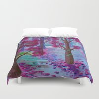 life aquatic Duvet Covers featuring Aquatic Tree Scape  by GraceJinnah