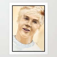 niall Art Prints featuring Niall by Sayrise