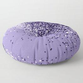 ULTRA VIOLET Glitter Dream #1 #shiny #decor #art #society6 Floor Pillow