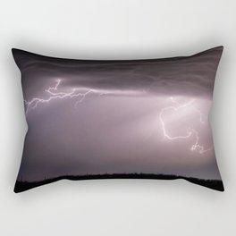 Summer Lightning Storm On The Prairie VI - Nature Landscape Rectangular Pillow