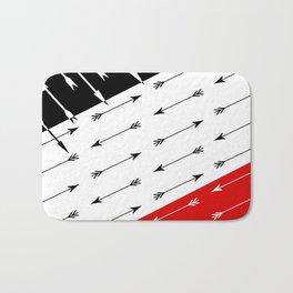 Red black , white pattern Boom 2 . Bath Mat