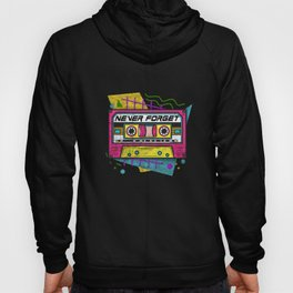 90s Never Forget - Vintage Cassette T-Shirt Hoody