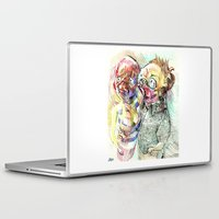 pugs Laptop & iPad Skins featuring Summer pugs by Stin