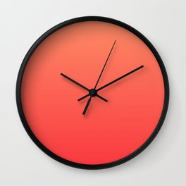 Tangerine Gradient Wall Clock