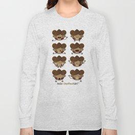 Chestnut Girl Mood Long Sleeve T-shirt