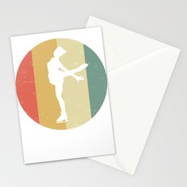 Vintage Retro Graphic Figure Skater ice dancer Stationery Cards