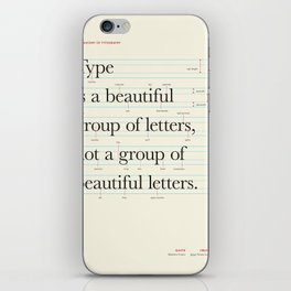 Typography Anatomy iPhone Skin