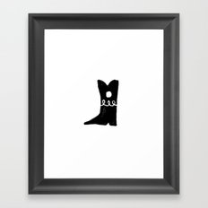Boot Framed Art Print