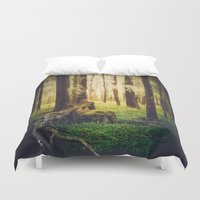 outdoor Duvet Covers featuring Come to me by HappyMelvin