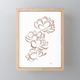 Four Flowers (Terracotta and White) Framed Mini Art Print