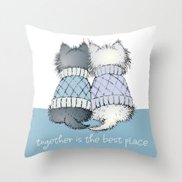 Together is the best place Throw Pillow