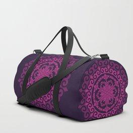 Pink Mandala on Dark Purple Duffle Bag