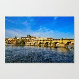 Charles Bridge in Prague Canvas Print
