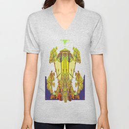 Queen Ann's Lace Floral Design Unisex V-Neck