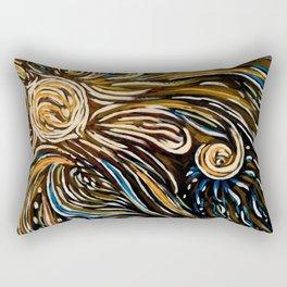 Orange Sun Rectangular Pillow