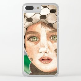 Free Palestine in watercolor Clear iPhone Case