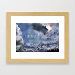 Swell sky Framed Art Print