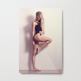 Fitness woman Metal Print