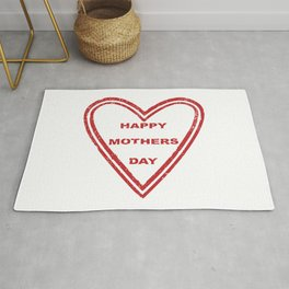 Mothers Day Heart Rug