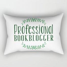 Professional Bookblogger - White w Green Rectangular Pillow