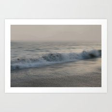 Misty Morning At Sea Art Print