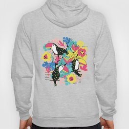 Toucan floral pattern Hoody