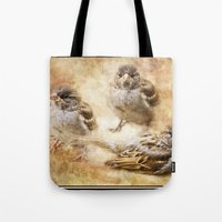 sparrow Tote Bags featuring Sparrow by Kimberley Britt