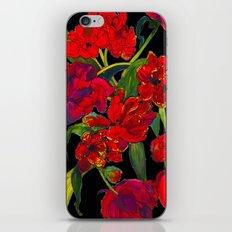 Inky Tulips Black iPhone & iPod Skin