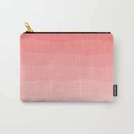 Grapefruit Blush Gradient Ombre Carry-All Pouch