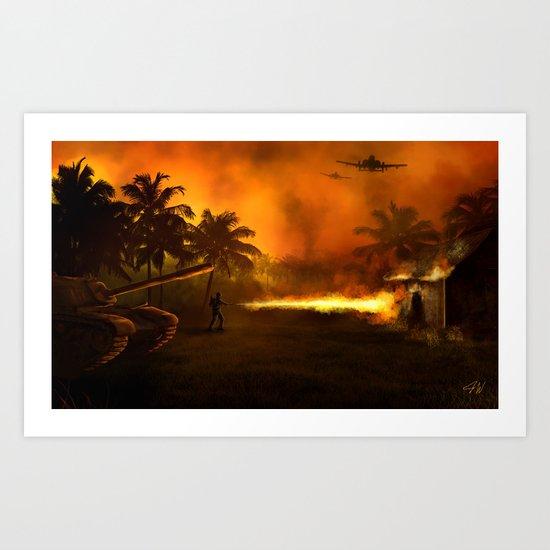 Flamethrower Art Print