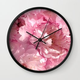 Pink cherry flowers Wall Clock