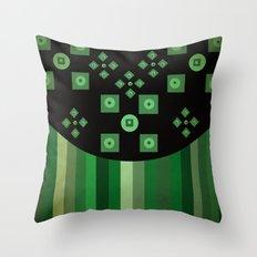 green shapes Throw Pillow