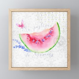 La Pastèque de Béziers—Watermelon and Lavender, Provence Framed Mini Art Print