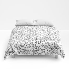 D20 Pattern - B&W Comforters
