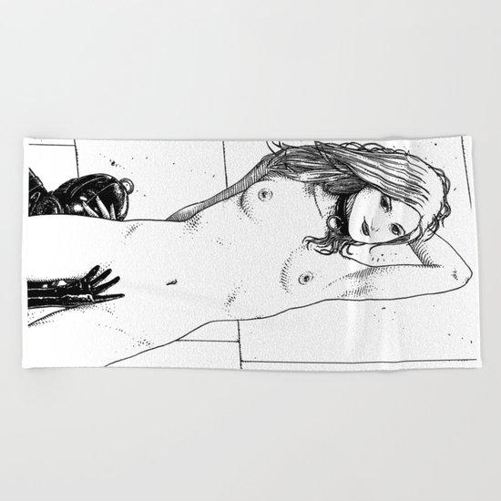 asc 689 - La dévotion (Consensual non-consent) Beach Towel